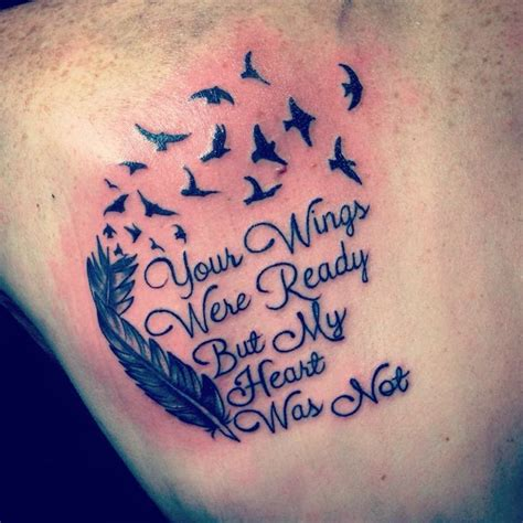 feather tattoo your wings were ready your wings were ready but my heart was not tattoos