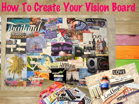 vision board building guide  single diaries
