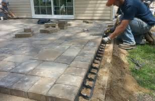 how to lay a patio with pavers grand ashlar patio concrete patio contractors near me