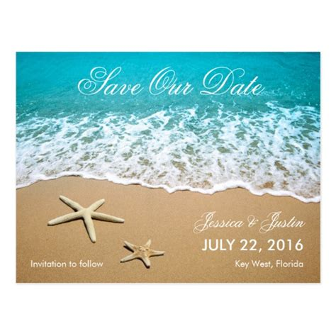 save the date destination wedding template free with starfish save the date card zazzle