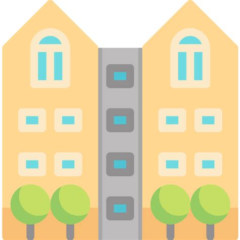 apartment free buildings icons