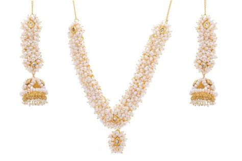 Shopping Online For Home Decor buy natural pearls set from hyderabad jewels online