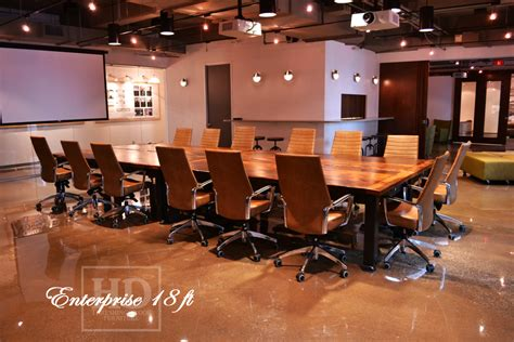 Wooden Boardroom Table Toronto Reclaimed Wood Boardroom Table With Casters