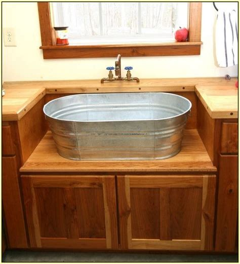 galvanized wash tub sink sink galvanized kitchen search interior design