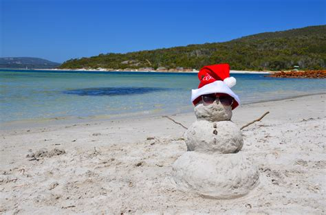 stock photo  aussie summer beach merry christmas