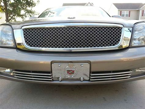 bentley grill cadillac dts chrome bentley mesh grille full replacement trim