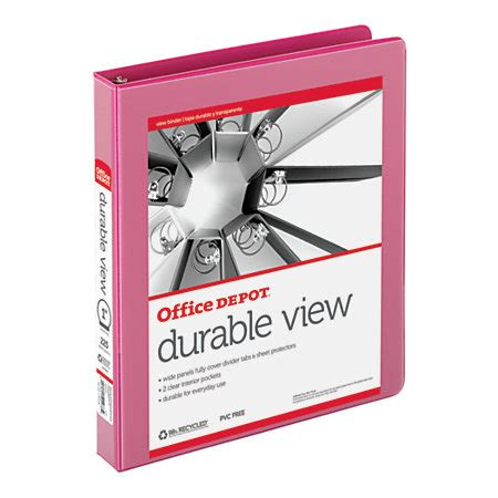 Office Depot Binder Coupons Office Depot Brand Durable View Ring Binder 1 Rings