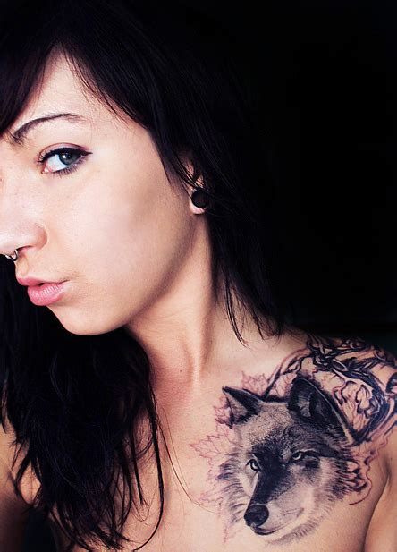 imagenes mujeres lobas wolf tattoos meaning designs images piercing