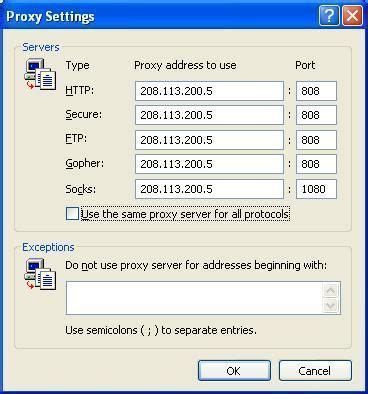 free proxy ip and setup free proxy server with ccproxy step by step