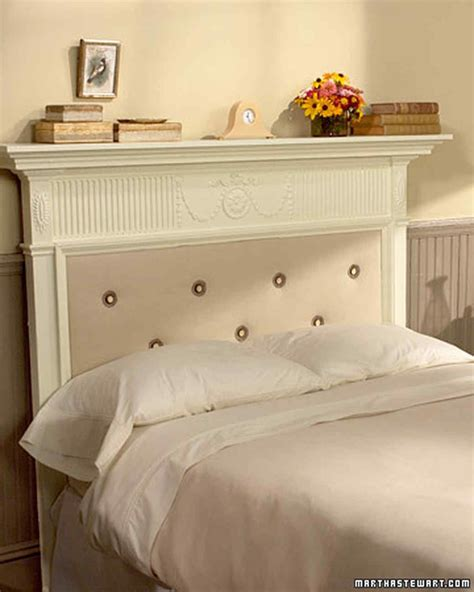 mantle headboard diy headboard ideas give your bed a boost martha stewart