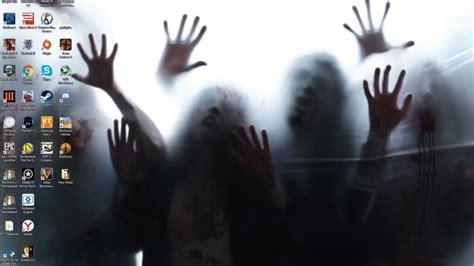 wallpaper engine zombie invasion download a creepy 171 walking dead 187 wallpaper pause geek la