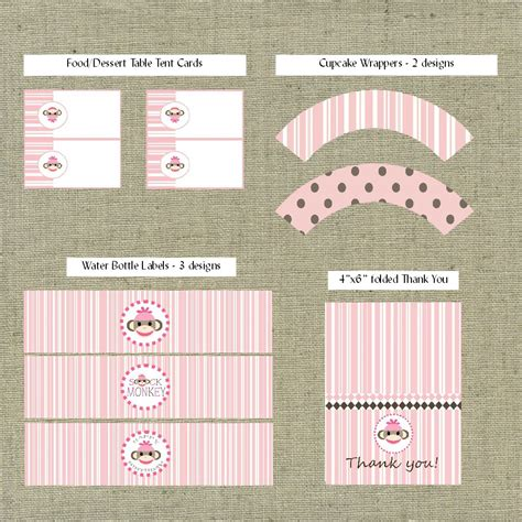 sock monkey template sock monkey invitation templates