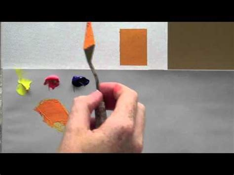 colour mixing basics acrylic painting technique to match a colour how to save money and do