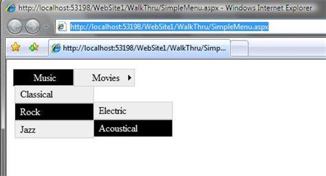 css templates for asp net menu scottgu s blog css control adapter toolkit update
