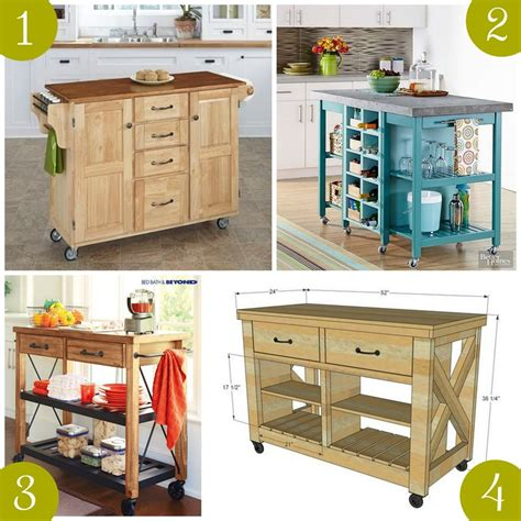 rolling islands for kitchen make a roll away kitchen island hgtv with diy portable