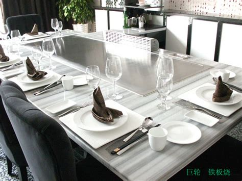 Teppan Table by 10 Seats Rectangle Teppanyaki Table In Pudong Shanghai Exporter And Manufacturer