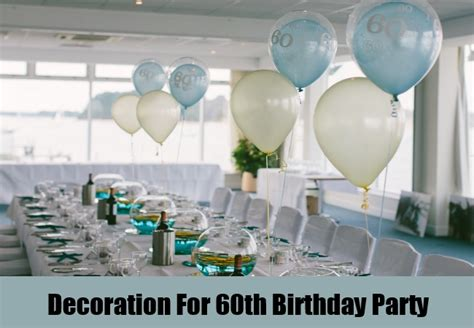 60th Birthday Table Decorations Ideas by 60th Birthday Table Decorations Photograph Decoration For