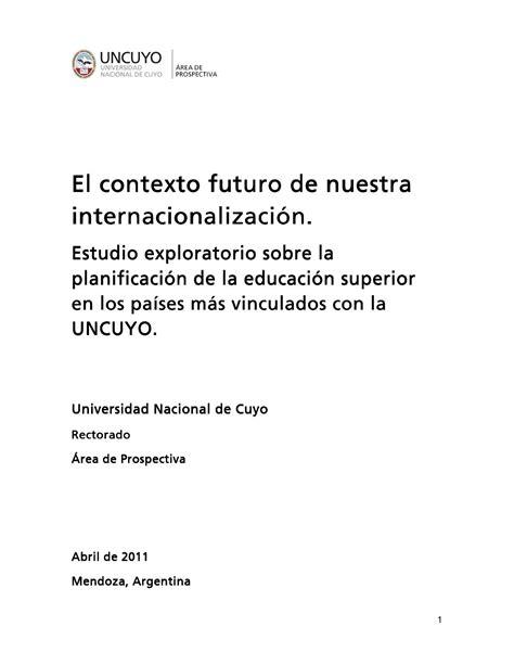 el futuro de nuestra el contexto futuro de nuestra internacionalizaci 243 n by javier vitale issuu