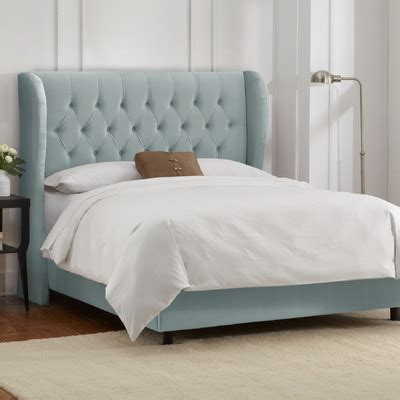 buy button tufted upholstered headboard size finish