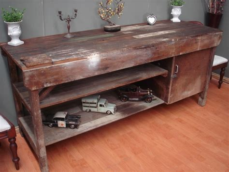 Island Kitchen Table Antique Industrial Rustic Kitchen Island Work Bench Hall