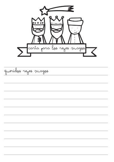 imagenes bonitas para dibujar en una carta carta reyes magos para colorear manualidades