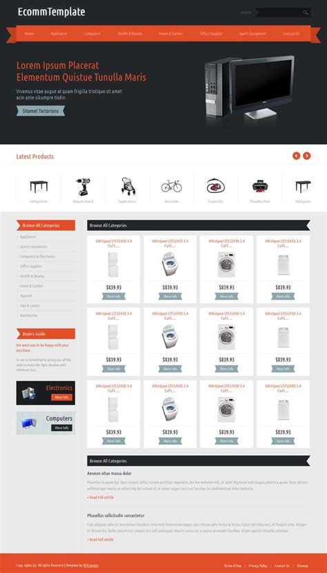 Free Template Ecommerce With Responsive Design Responsive Ecommerce Template Bootstrap