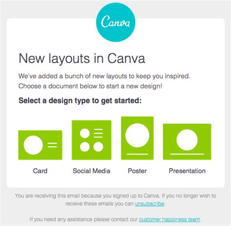 canva email newsletter 12 of the best email marketing exles you ve ever seen