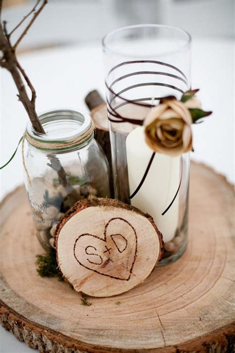 centerpieces made from nature winter wedding inspiration kisses cake