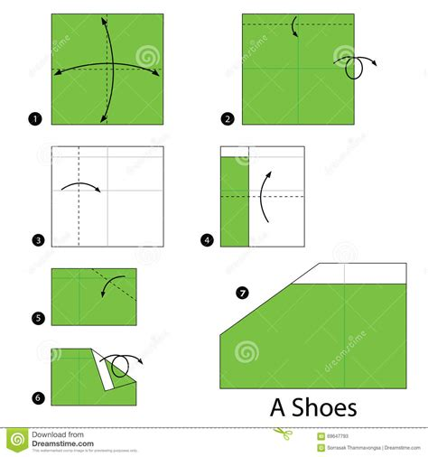 How To Make Origami Shoes - step by step how to make origami a shoes