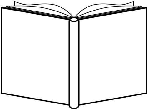 book shape template clipart book open outline