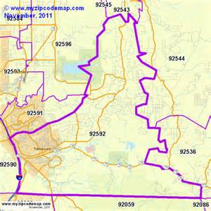 Temecula Zip Code Map zip code map of 92592 demographic profile residential