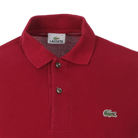 Lacoste L1212 For Original Non Box Bergaransi lacoste l1212 bordeaux plain polo shirt oxygen clothing