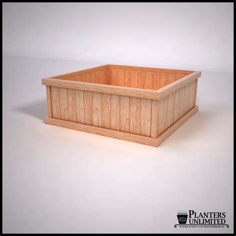 commercial cedar planter boxes square large planters