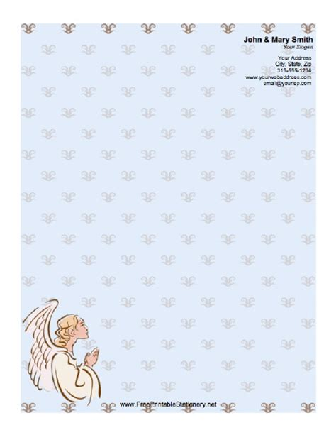 printable religious stationery angel stationery