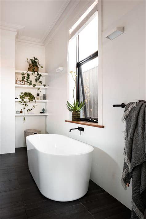 contemporary ensuite  freestanding bath scandinavian