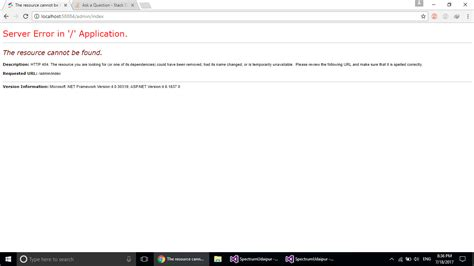 the resource cannot be found the resource cannot be found asp net mvc asp net c