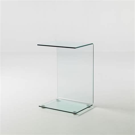 tavolini divano tavolino jorge in vetro curvato lato divano 45 x 35 x 66 cm