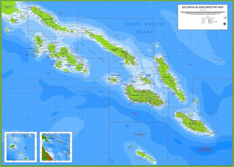 map islands large detailed map of solomon islands