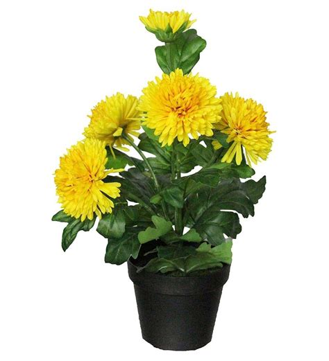 flowers and plants pollination yellow marigold artificial flower plant by