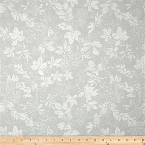 gray and white upholstery fabric 108 quot wide quilt back modern leaf light grey white