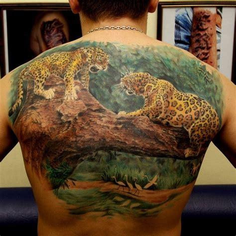jaguar tattoo 3d huge amazing jaguar tattoo for whole back tattooimages biz