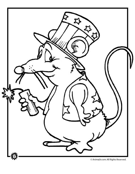 mouse coloring pages preschool firecracker mouse coloring page for th of july preschool