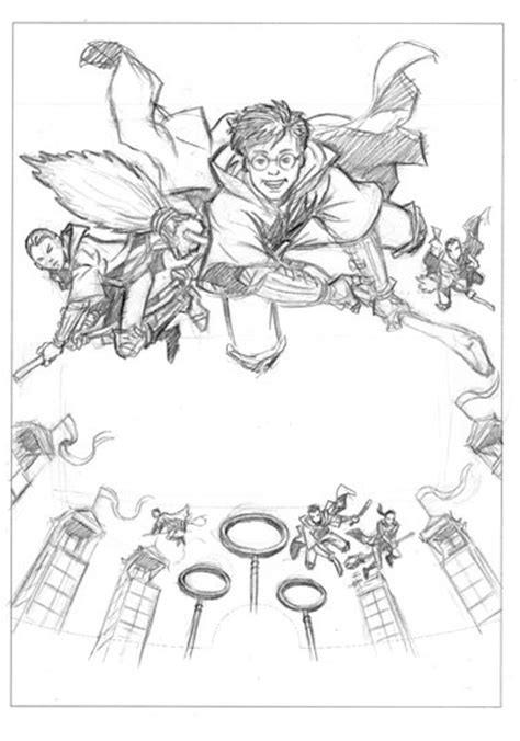 harry potter playing quidditch coloring pages the gallery for gt harry potter playing quidditch drawings