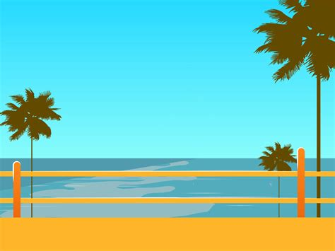 Hawaii Beach Backgrounds Blue Green Travel Yellow Templates Free Ppt Backgrounds And Hawaiian Powerpoint Template