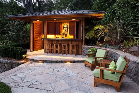 Backyard Tiki Bar Ideas Outdoor Bar