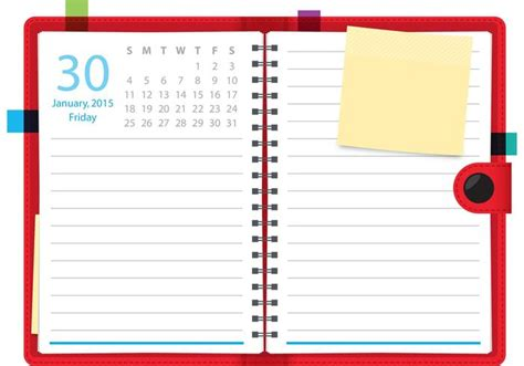 Daily Planner Template Vector | daily planner vector notebook download free vector art