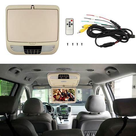 but psycho screen top input 9 inch tft lcd car hdmi monitor roof mount ceiling flip