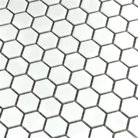 Honeycomb Mosaic Floor Tiles by Ceramic Mosaic Tiles Honeycomb Structure White Ho24134m