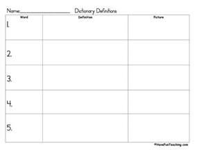 spelling word definitions worksheet have fun teaching