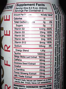 rockstar energy drink ingredients label